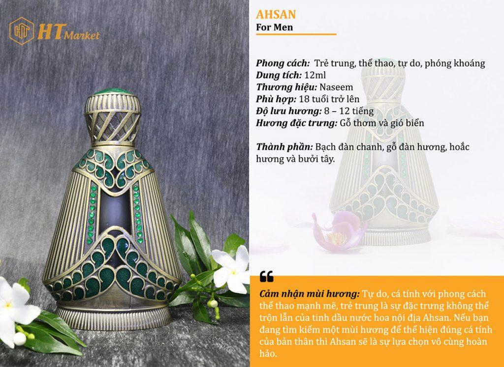 Tinh dầu nước hoa dubai Ahsan