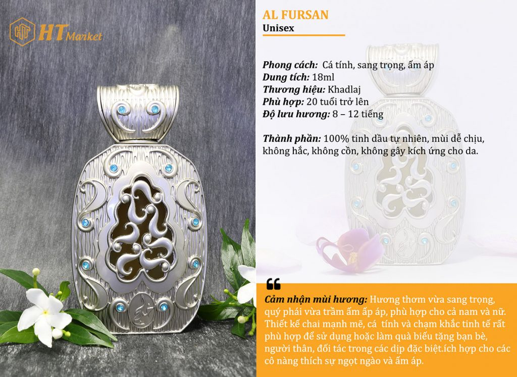 Tinh dầu nước hoa dubai Al Fursan