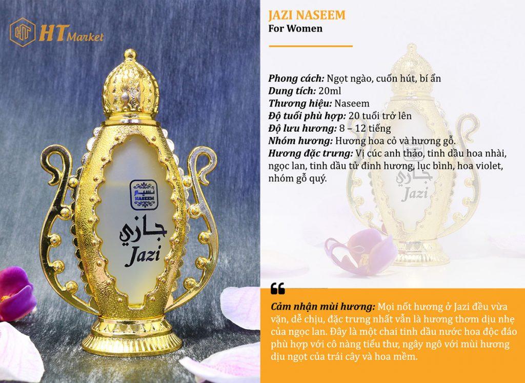 Tinh dầu nước hoa dubai Jazi