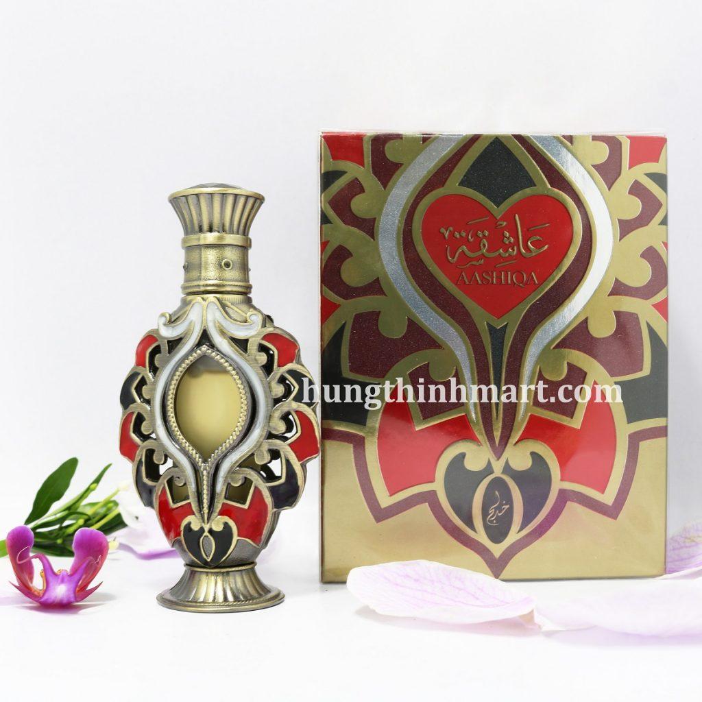 Tinh dầu nước hoa Dubai thơm lâu nội địa Aashiqa 18ml