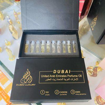 set test thử 10 mùi tinh dầu nước hoa Dubai