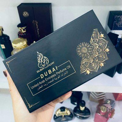 set lăn mini tinh dầu nước hoa Dubai